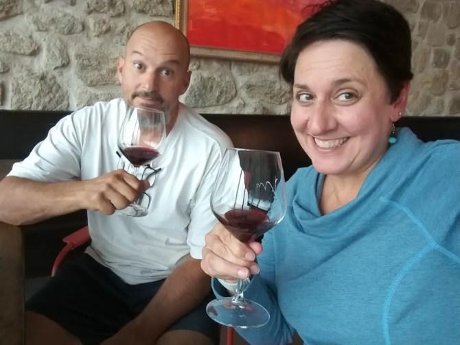 Mark & Denise at winery in Tuscany