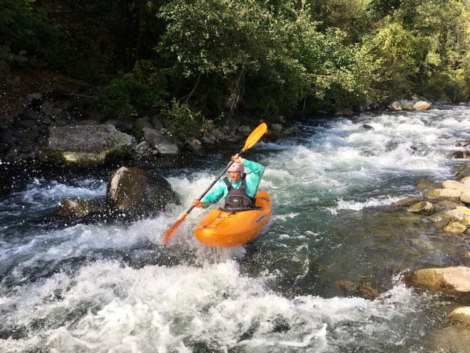 Kayaking the Serchio River