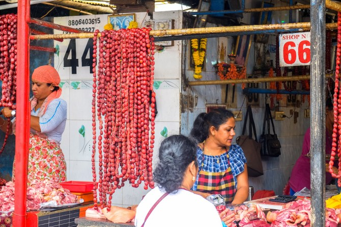 Goan pork sausage sold on Margao Market