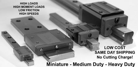 heavy duty roller guide rails
