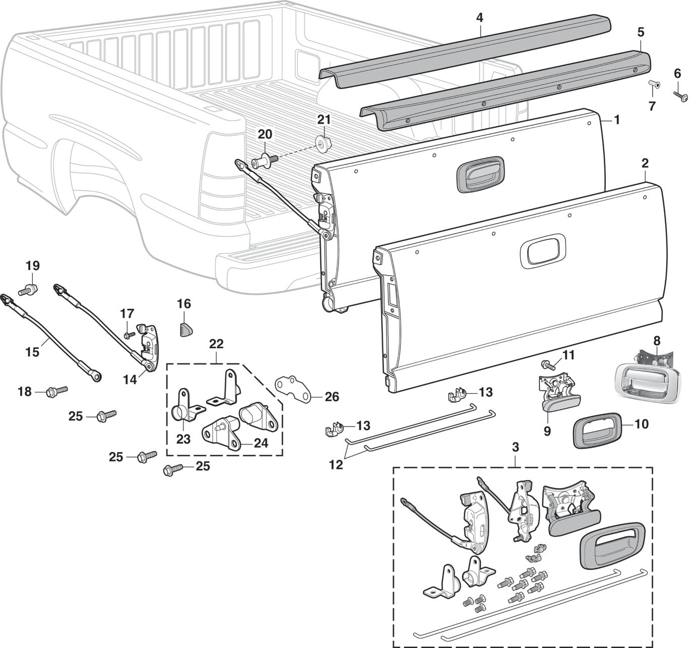 Wiring Database 30 Gmc Sierra Tailgate Latch Diagram