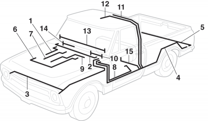 1972 chevy truck front harness  center wiring diagram spoil