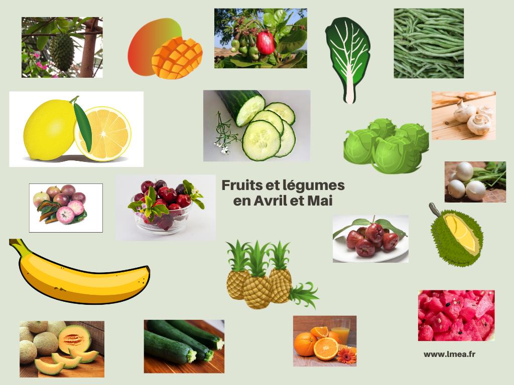Fruits et légumes Avril et MAI