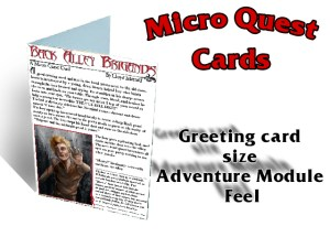 Greeting Card Size, Adventure Module Feel