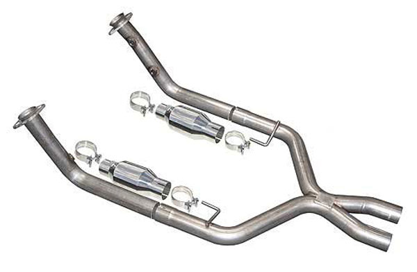 pypes exhaust xfm39 pypes v6 mustang 2 5 inch xpipe w cats 1998 2004