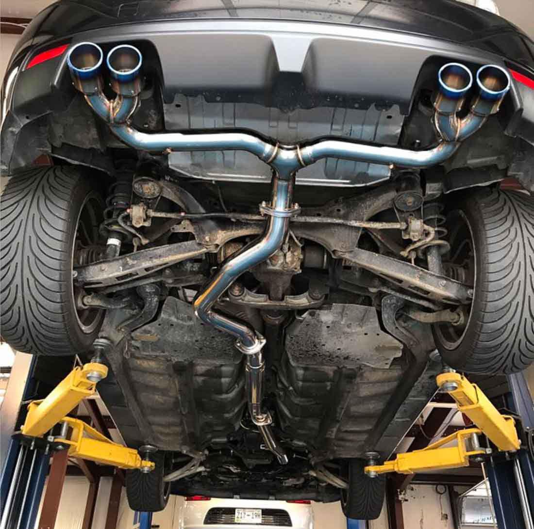agency power ap grbh 170t titanium tip catback exhaust w o muffler subaru sti hatch wrx hatch 2008 2014
