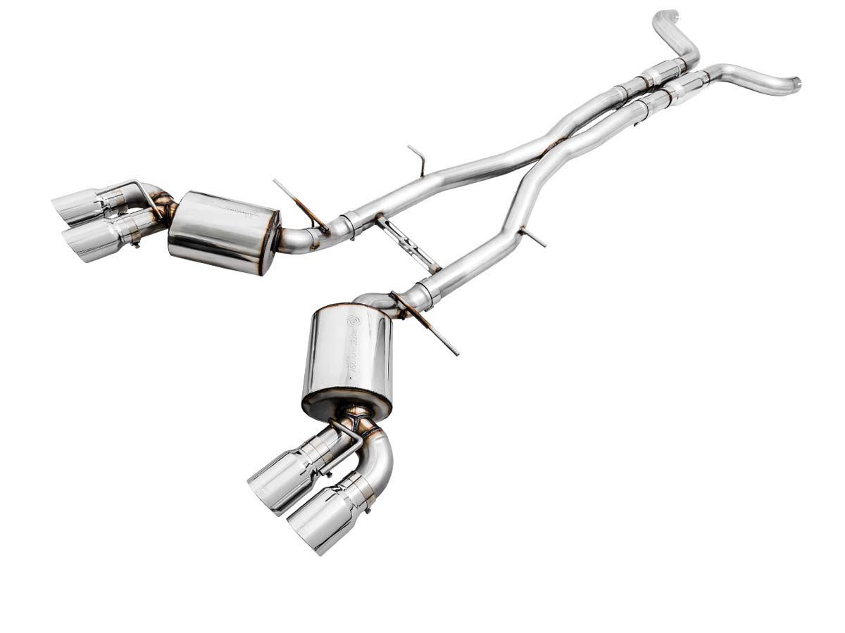 awe tuning 3020 42068 awe camaro ss cat back exhaust touring edition quad chrome silver tips 2016 2019