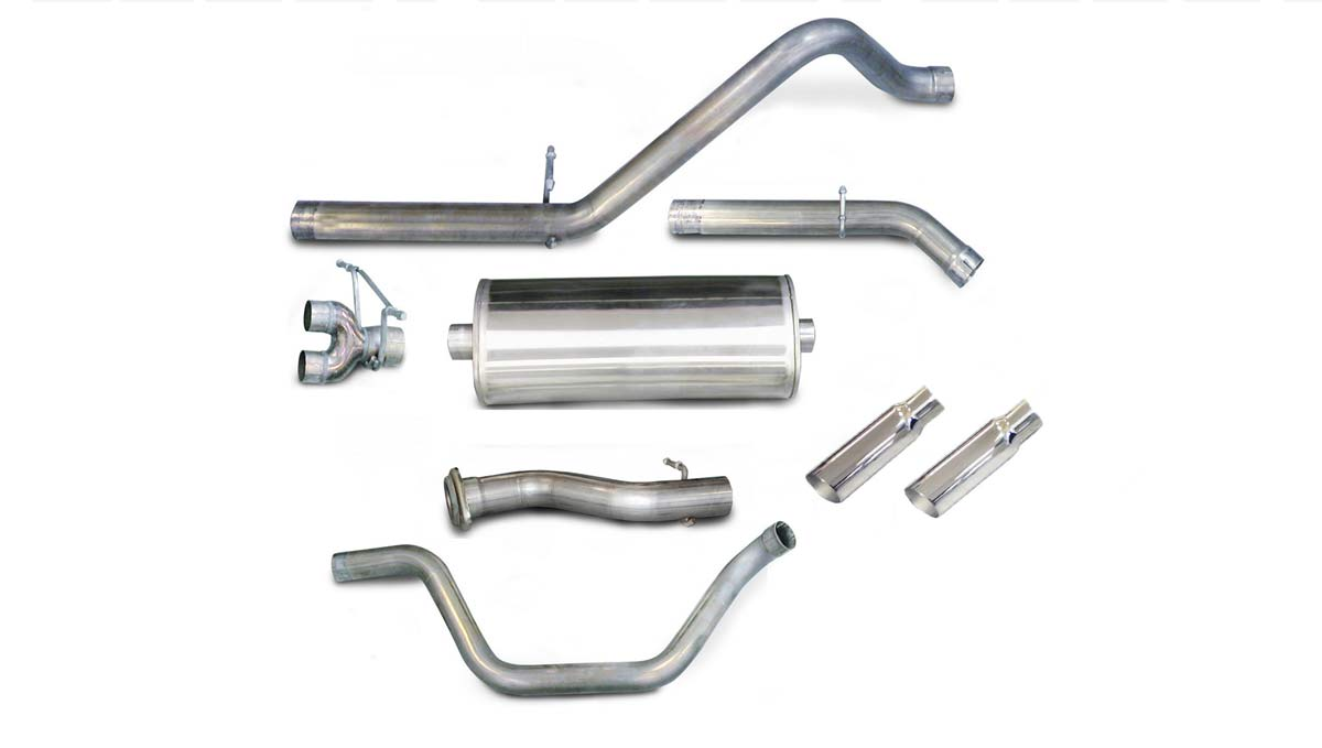 corsa performance 24199 corsa silverado sierra 4 8l 5 3l 6 0l 1500 db series dual exhaust kit ec stb cc sb 2007 2008