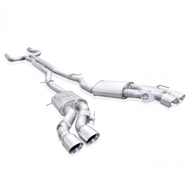 stainless works ctsv16cb cadillac cts v sedan exhaust system with xpipe 2016 2018