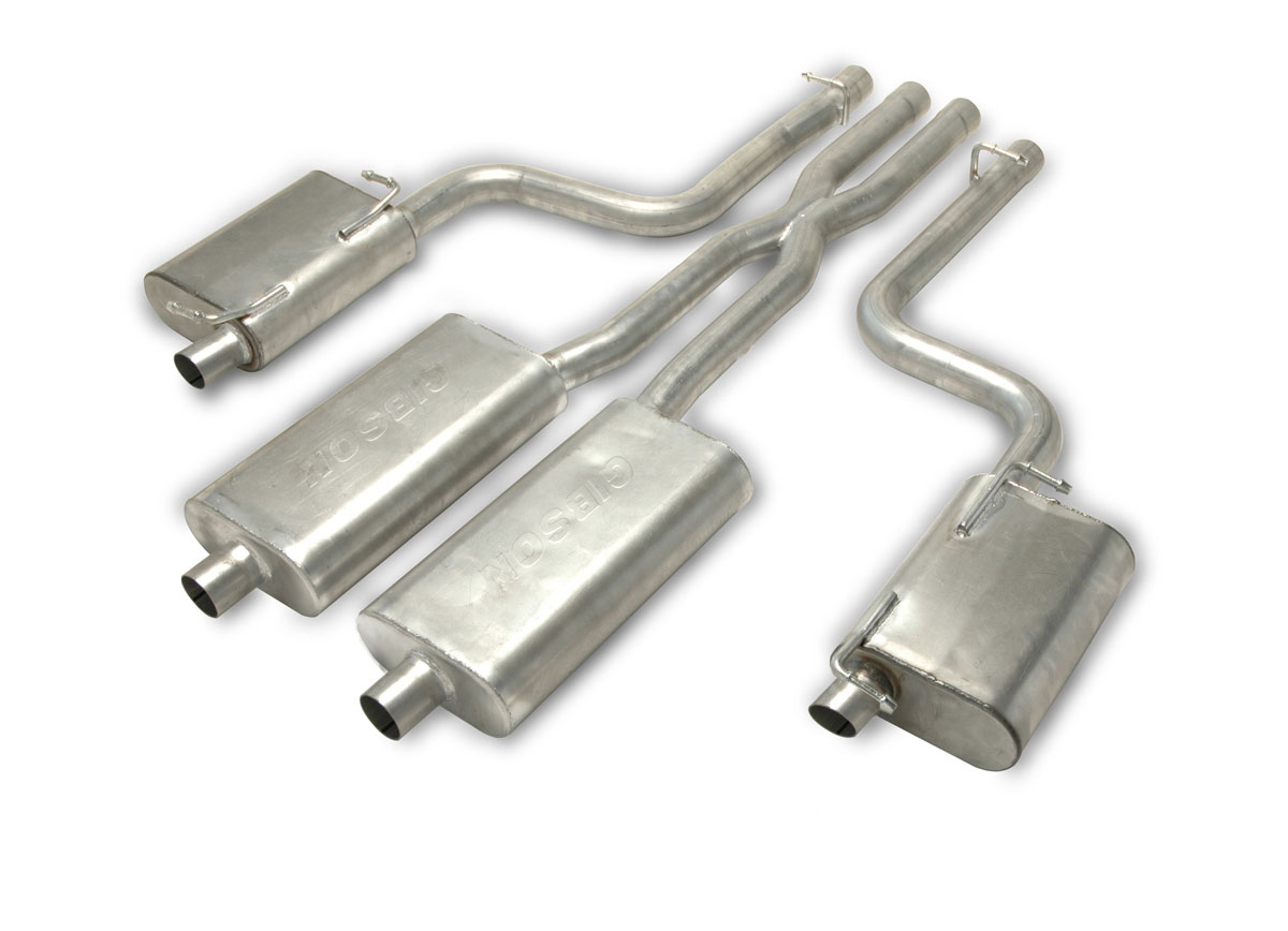 gibson 617008 performance exhaust dodge charger 5 7l stainless cat back dual exhaust system 2011 2014