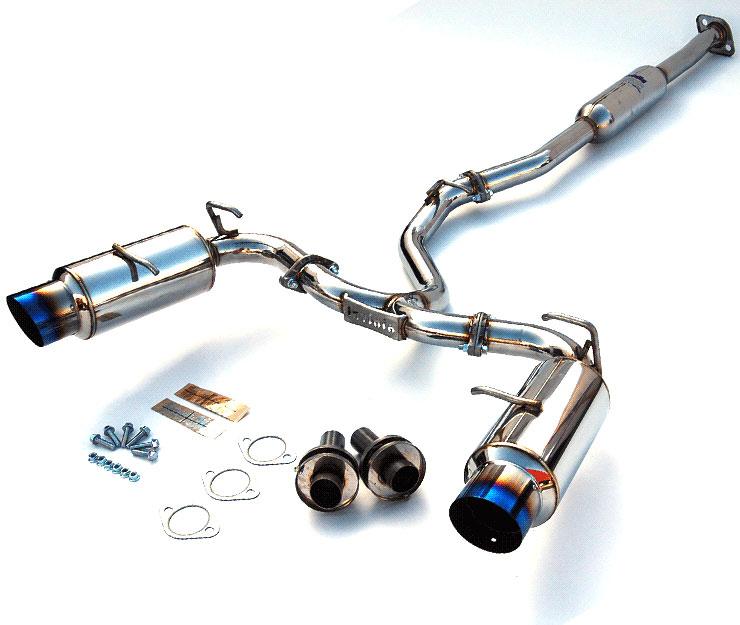 invidia hs12sstgtt br z scion fr s n1 single layer titanium tips cat back exhaust system 2012 2019
