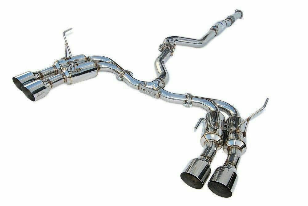 invidia hs15stigm4ss subaru wrx sti gemini r400 stainless steel tip cat back exhaust 2015 2019