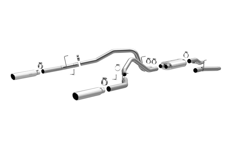 magnaflow 16520 exhaust system for ford f 150 dual split rear exit open box 2004 2008