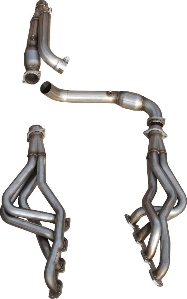 american racing headers rm158 13134300lswc dodge ram 1500 8 speed long system with cats 1 3 4in x 3in headers 3in y pipe with cats 2013 2018