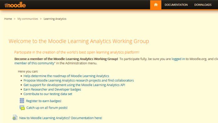 A Lowdown Of Moodle Learning Analytics Working Group First Community Call