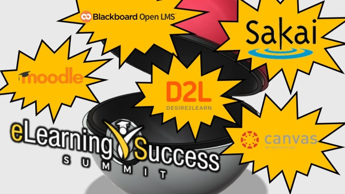 Elearning Success Summit lmspulse moodle blackboard open lms instructure canvas sakai apereo d2l