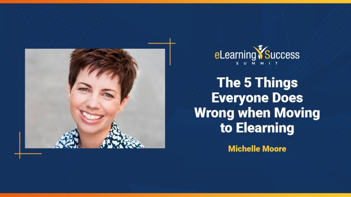 Michelle Moore at the Elearning Success Summit