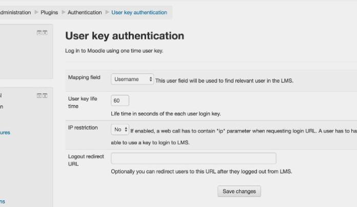 Better Interaction Between Third Party Web Services And Your Moodle Through User Key Authentication Plugin
