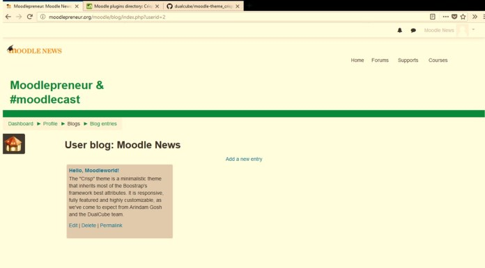 This Moodle Theme Is A Crunchy Bite. Can't Click Just Once!