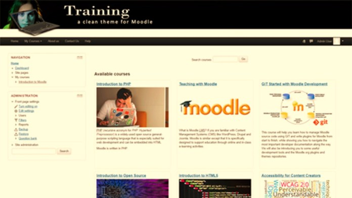 Try 'Training,' A New, Clean, Simple To Get Started With Moodle Themes