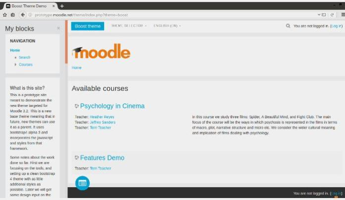 Moodle 3.2 Look And Feel Update: