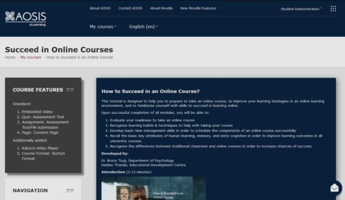 South African Moodle Partner Aosis Shows Off With Material Demo Site