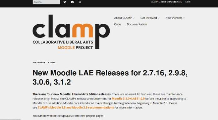 Updates To Liberal Arts Flavored Moodle Courtesy Of CLAMP Consort
