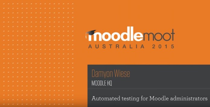 automate testing in moodle for administrators