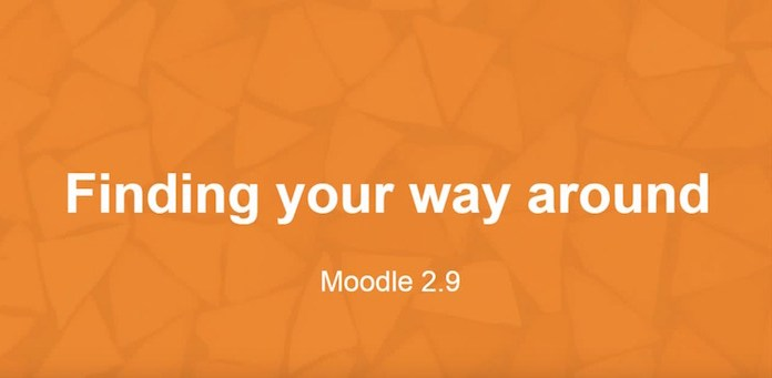 finding your way around Moodle