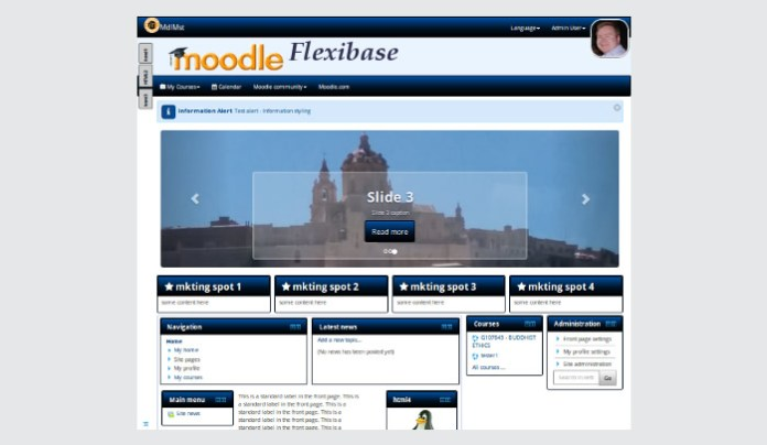 flexibase 3.0 moodle update