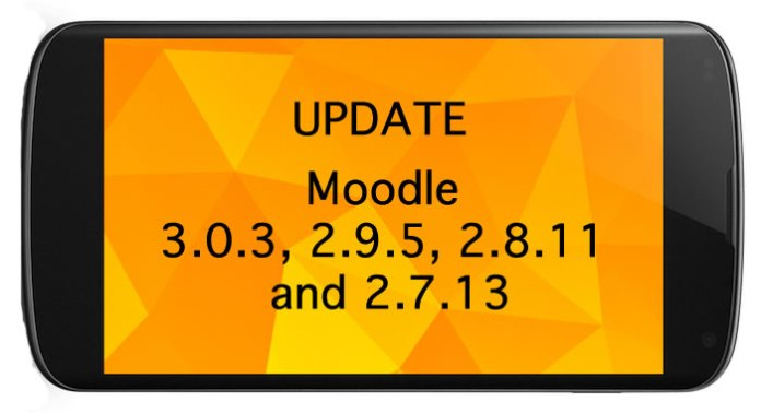 moodle core update