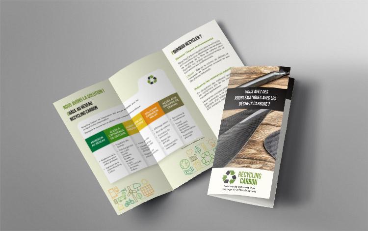 Création dépliant - Association eco-responsable en Essonne
