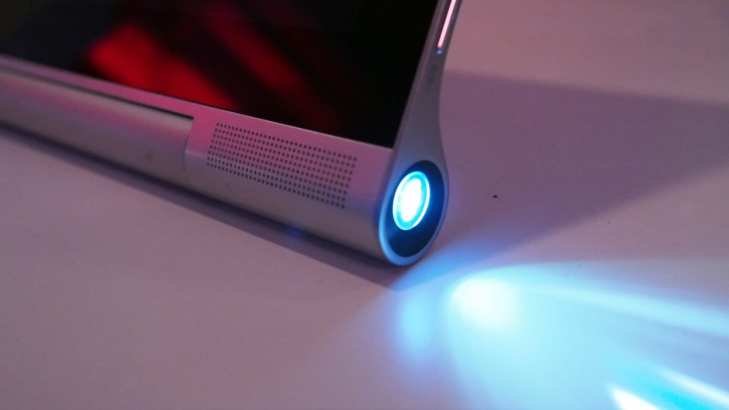 tablet with a built in projector