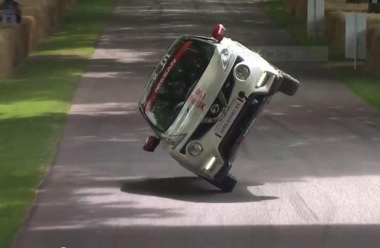 nissan juke on two wheels