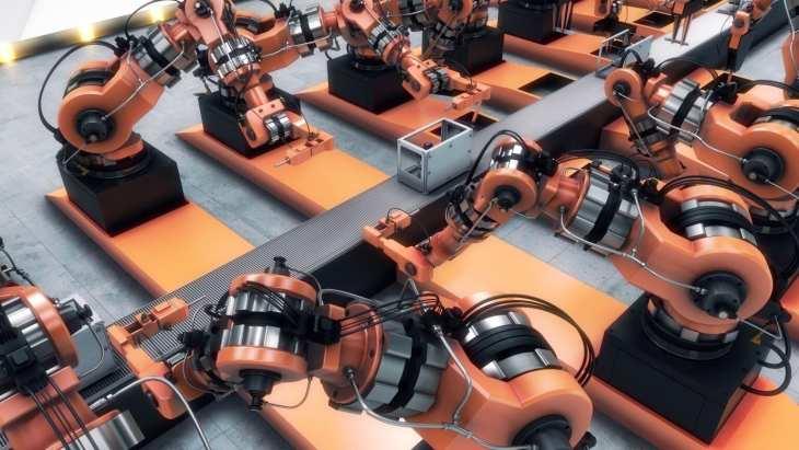 רובוטים על פס ייצור
