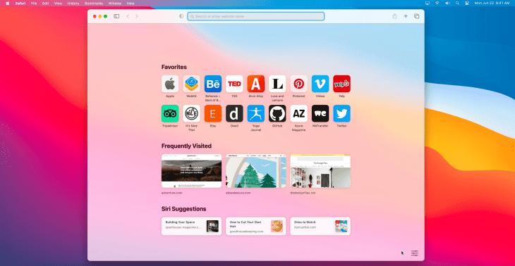 safari browser presented at wwdc20