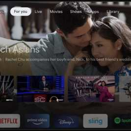 מסך הממשק של Google TV