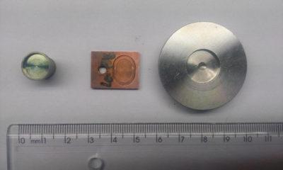 Legenda - Sample holders from left to right: Furnace, cryostat, High-resolution