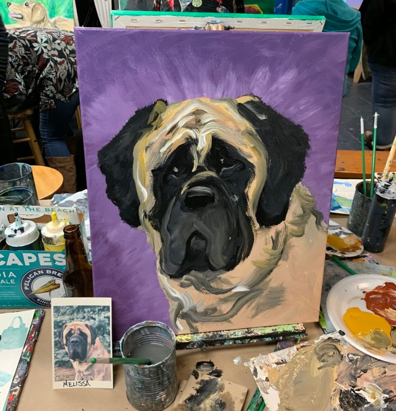 Paint-Your-Pet | The Loaded Brush Paint & Sip Classes | loadedbrushpdx.com