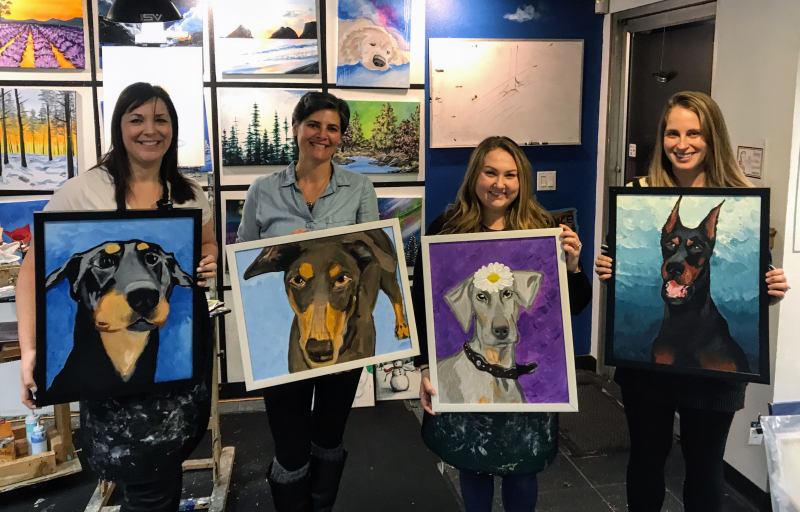 Paint-Your-Pet | Paint & Sip classes at The Loaded Brush | loadedbrushpdx.com