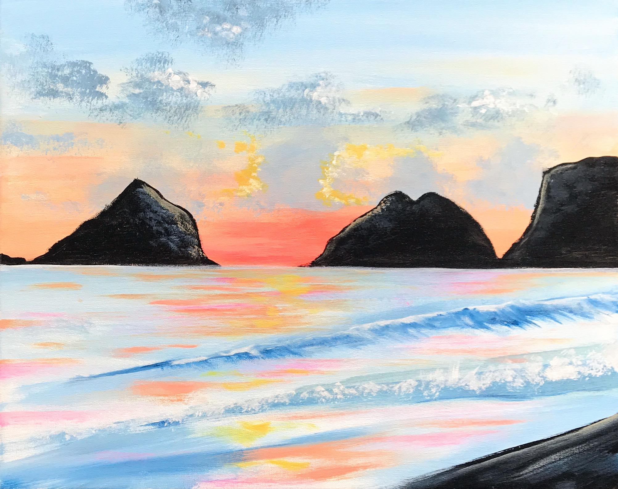 Oceanside | The Loaded Brush Paint & Sip Classes | loadedbrushpdx.com