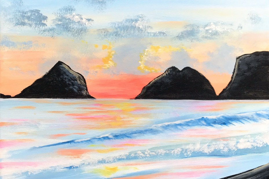 Oceanside | The Loaded Brush Paint & Sip Classes | loadedbrushpdx.com