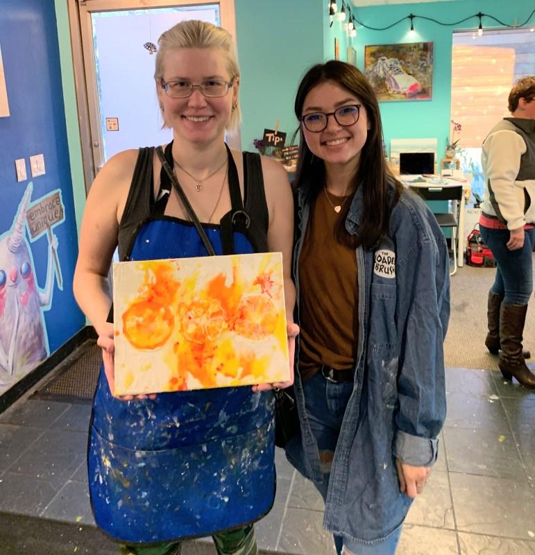 Elizabeth's first art sale EVER!