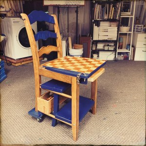ReBuilding Project: Multi-Purpose Chess Table, Step-Stool, Chair and Art Desk (kind of)