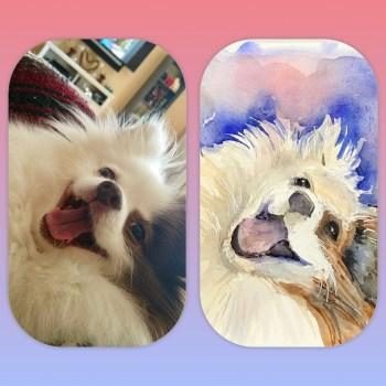 Watercolor Pet Portrait (Hand-Painted)