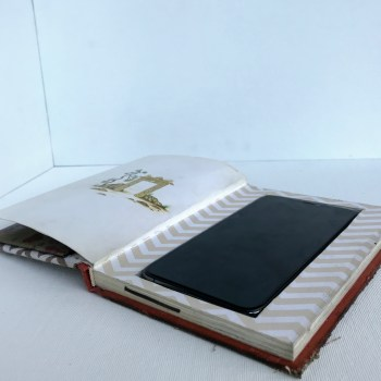 Secret-Compartment Recycled-Book Smartphone Case & Wallet