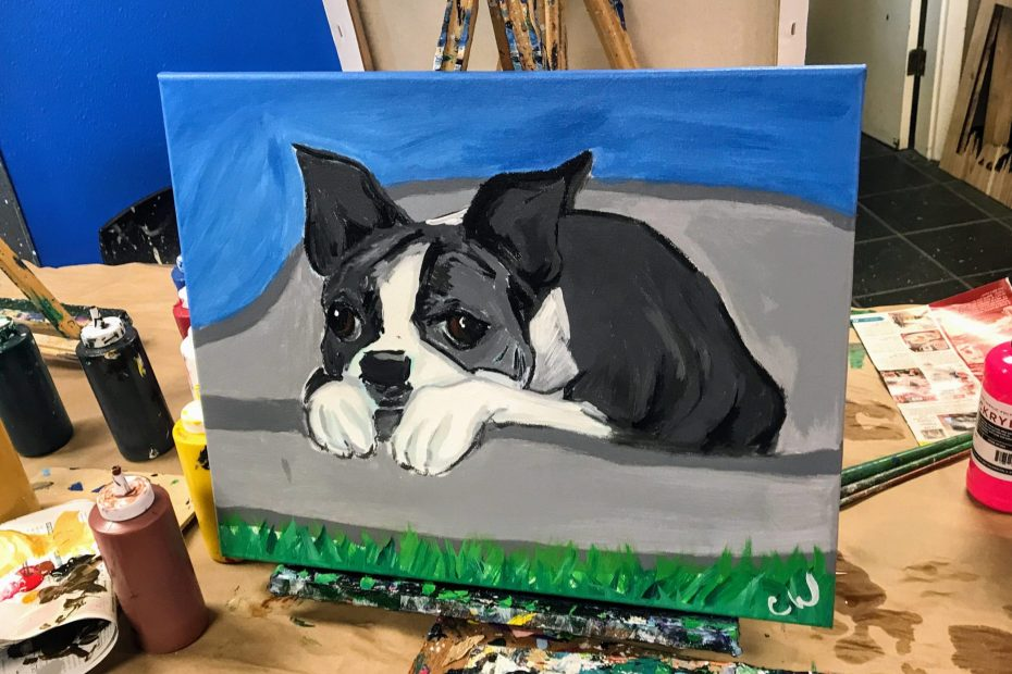 Paint-Your-Pet | The Loaded Brush Paint & Sip Classes | www.loadedbrushpdx.com