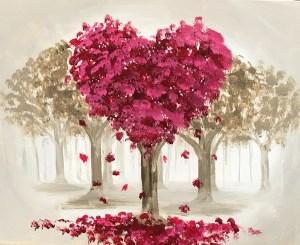 Love(ly) Trees | The Loaded Brush Paint & Sip Classes | loadedbrushpdx.com