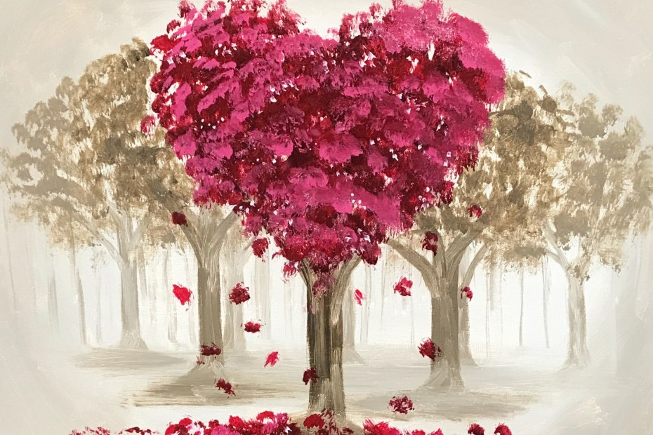 Love(ly) Trees | The Loaded Brush Paint & Sip Classes | loadedbrushpdx.com