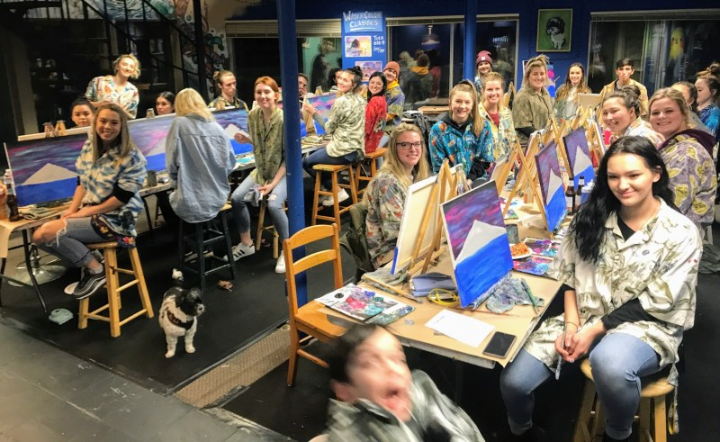 Private Event | Paint & Sip Classes at The Loaded Brush | loadedbrushpdx.com
